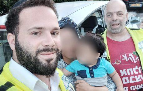 """הצלה נוספת של ארגון ידידים : ילד בן 3 ננעל ברכב ונחלץ ע""""י כונן של הארגון"""